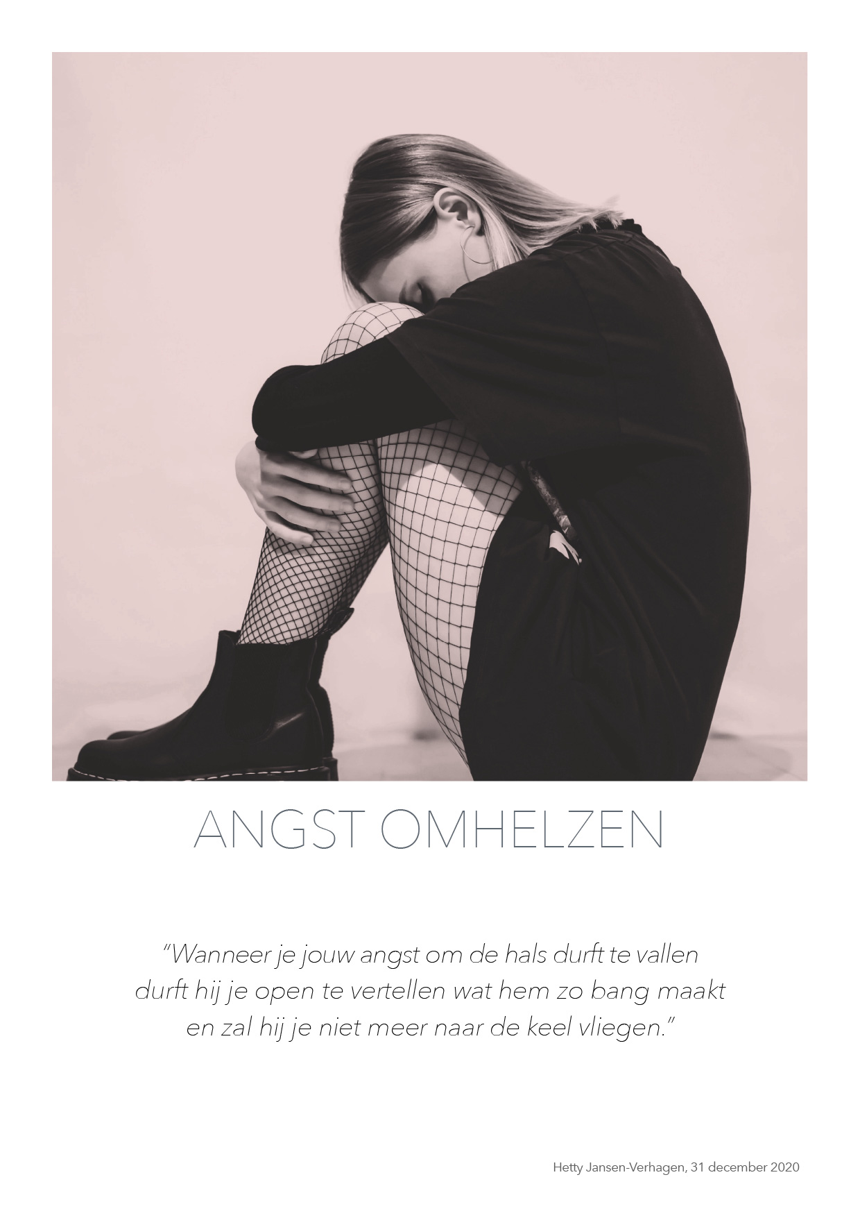 Angst omhelzen - quote HJTC