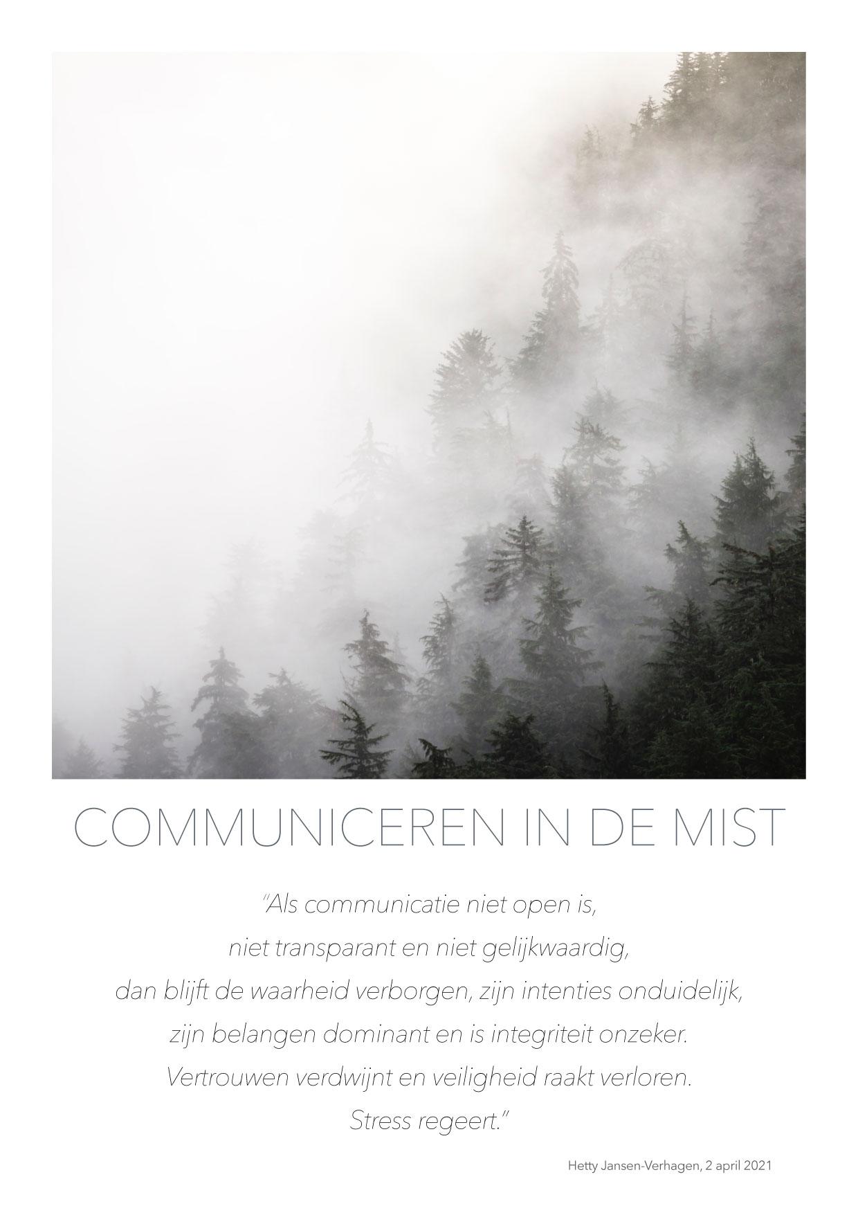 Communiceren in de mist - quote HJTC