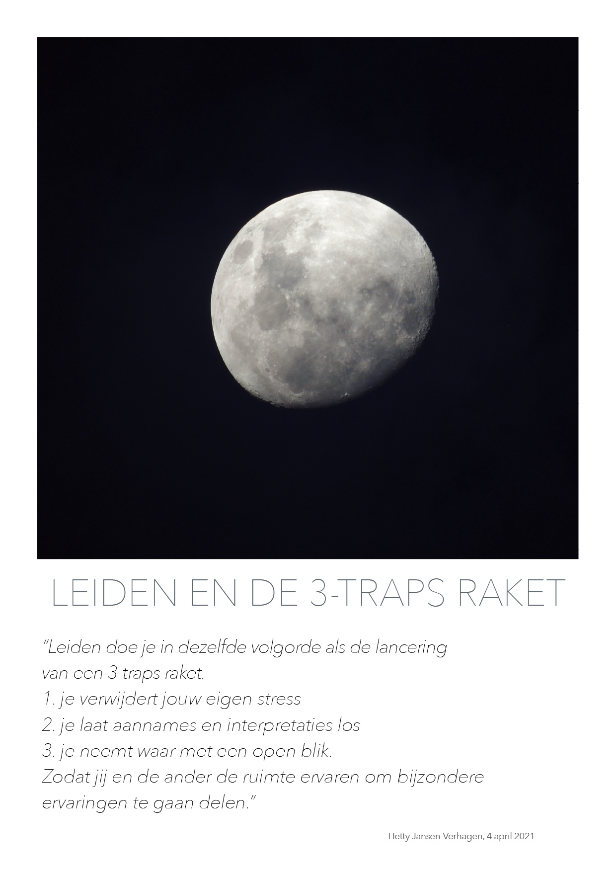 Leiden en de 3-traps raket - quote HJTC