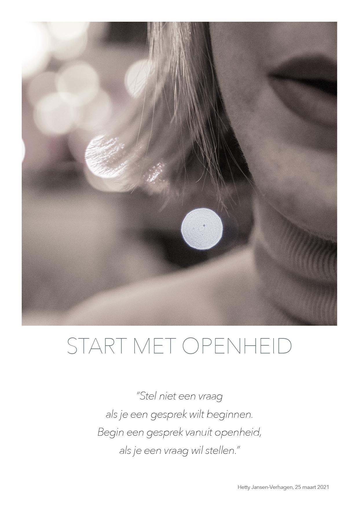 Start met openheid - quote HJTC